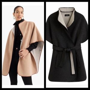 J. Crew Collection Double Sided Wool Cape